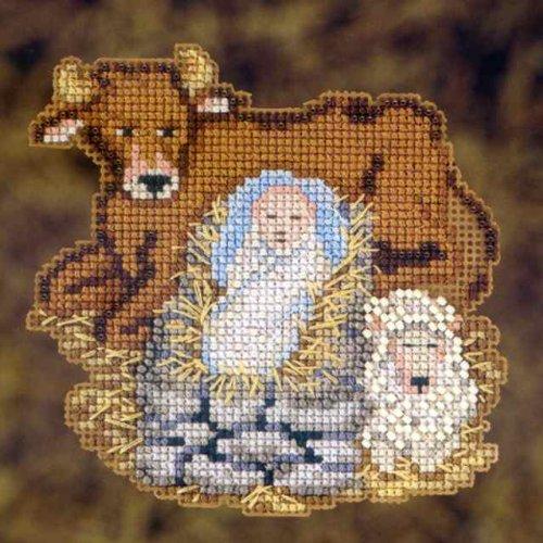 3 Cross Stitch Kits (Mill Hill Beads Cross Stitch Kit - Nativity Trilogy Set Of 3)