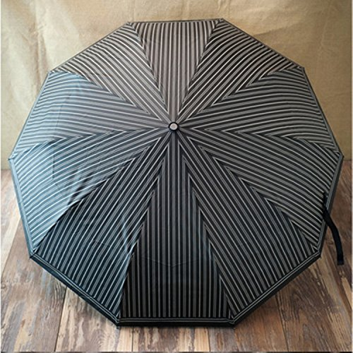 Organza Full Skirt (Umbrella Large Business Full-automatic Windproof Anti-uv Parasol Folding Decoration Gift Dance Props (black))