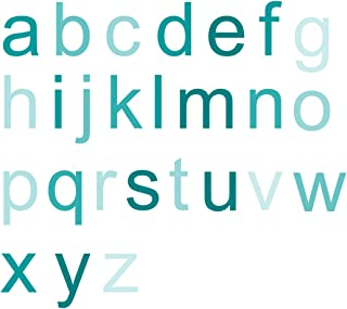 product image for WallCandy Arts Wall Decal, Tinted Teal Ombre Alphabet Wall Stickers