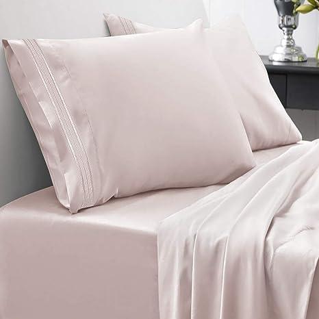 1 flat sheet,1 fitted sheet ,2 pillows cases 1800 Bamboo Comfort Plus Sheet Set