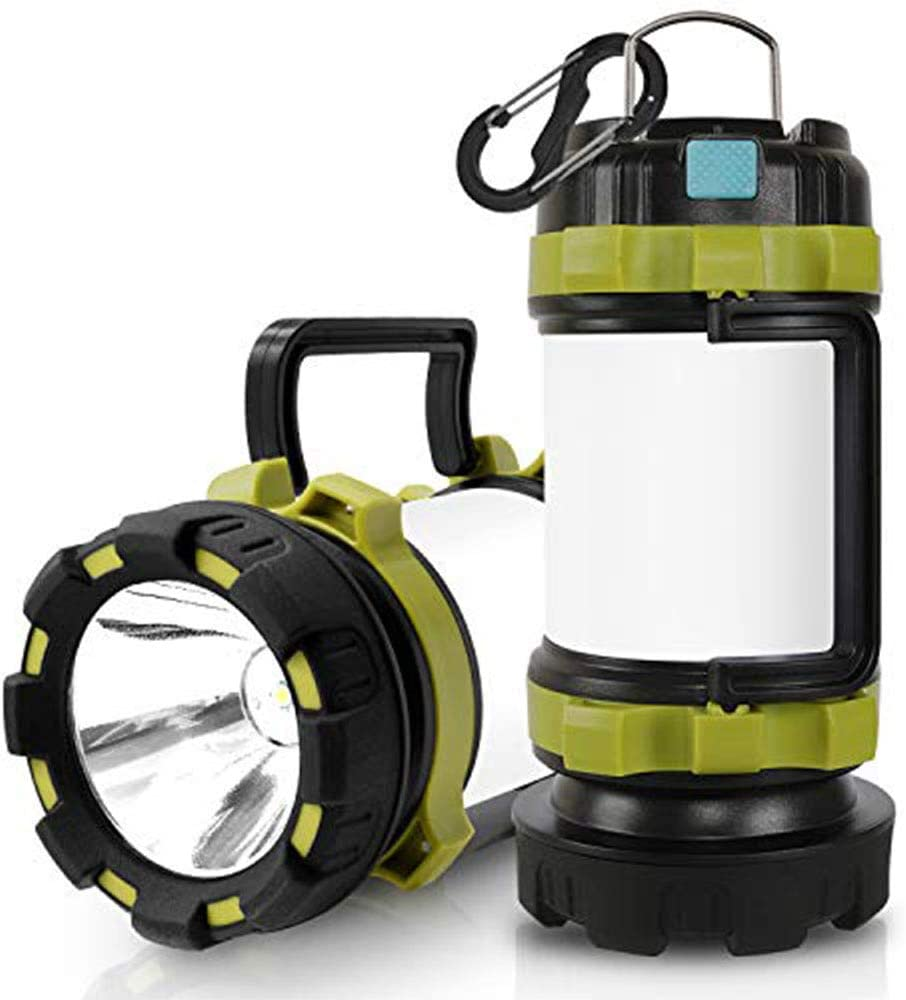 Wsky LED Camping Lantern Rechargeable, T2000 High Lumen Light Flashlight, 6 Modes, High Capacity Power Bank - Best Lantern Flashlight for Camping Outdoor Hurricane Emergency