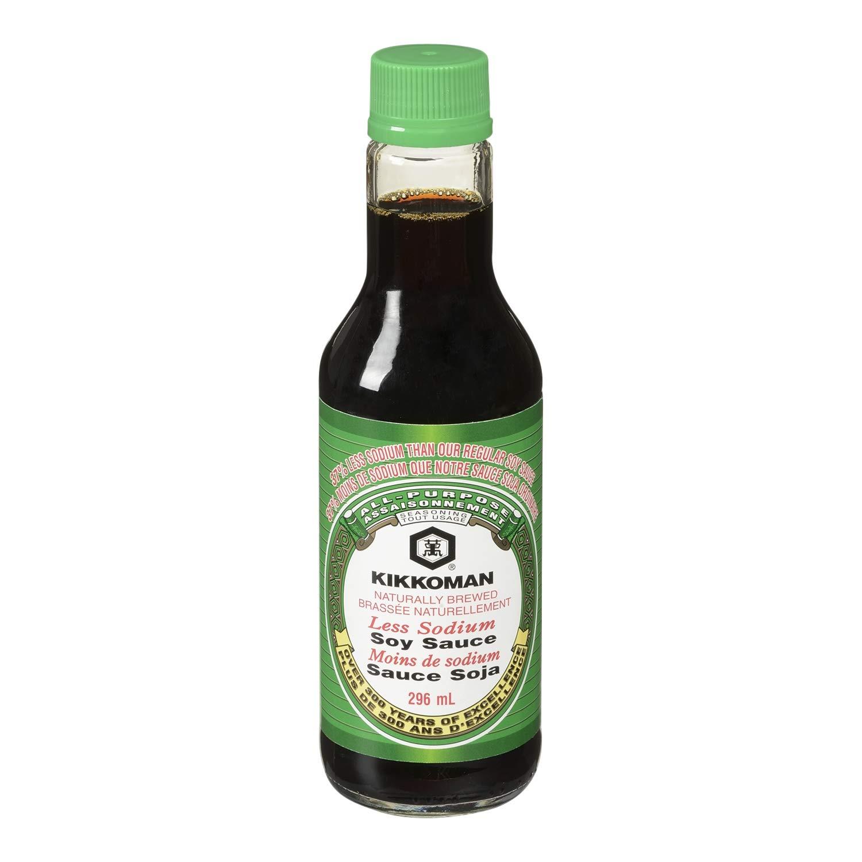 Kikkoman Soy Sauce Less Sodium, 10 oz by Kikkoman