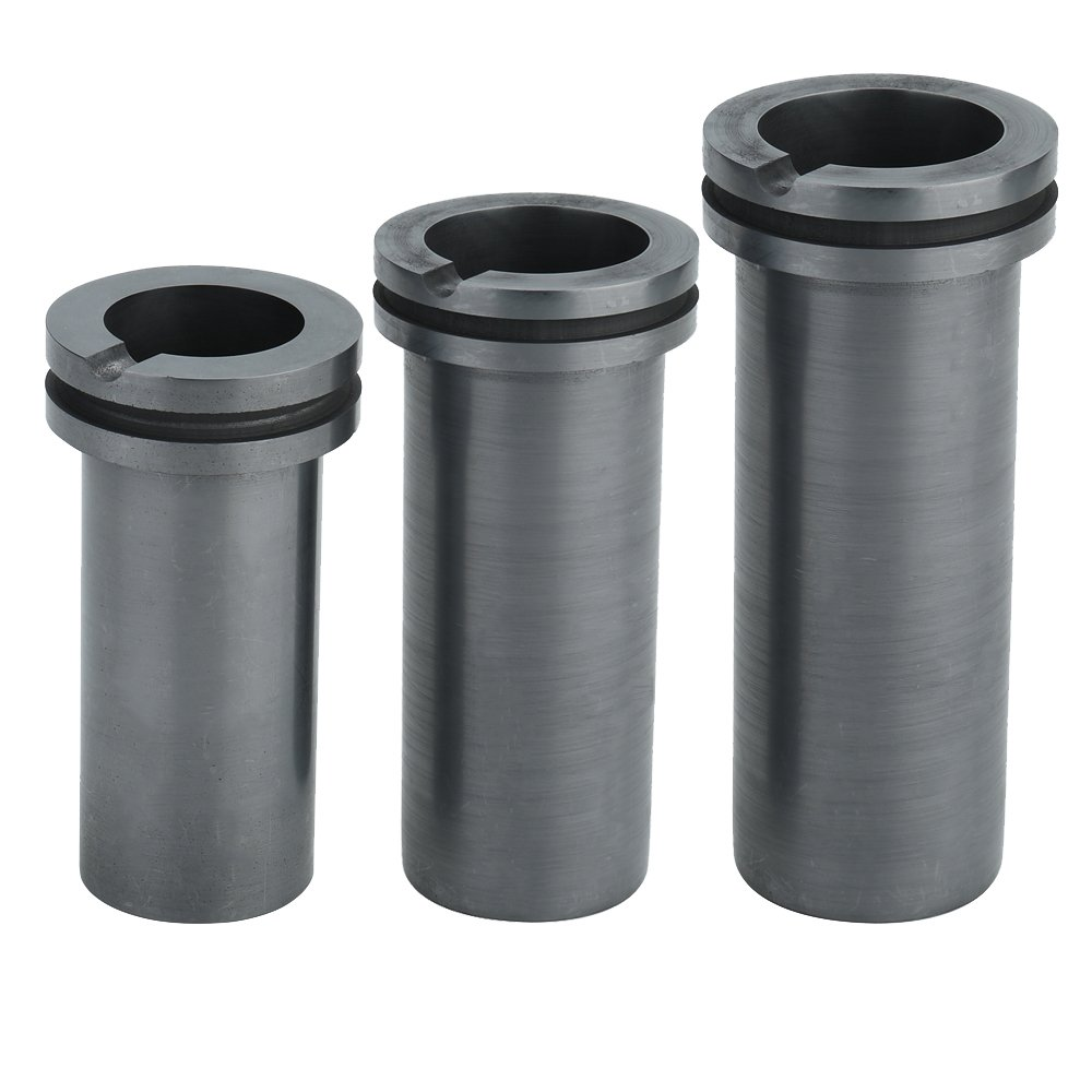 KKmoon High-purity Melting Graphite Crucible for High-temperature Gold and Silver Metal Smelting Tools