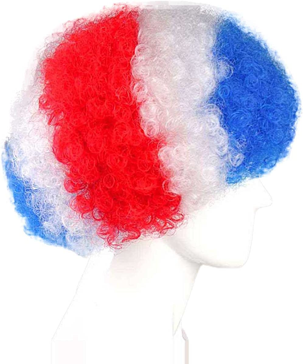 Adult /& Kids Halloween Party Online Country Flag Afro Sports Wig Collection