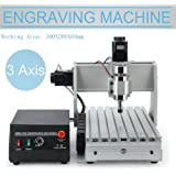 DIY CNC 3020 Wood Carving Engraving Machine, CNC 3020 300w 3 Axis Engraver with USB Port 3D Drilling Router Engraver Milling Machines Kit(Working Area: 300X200X60mm)