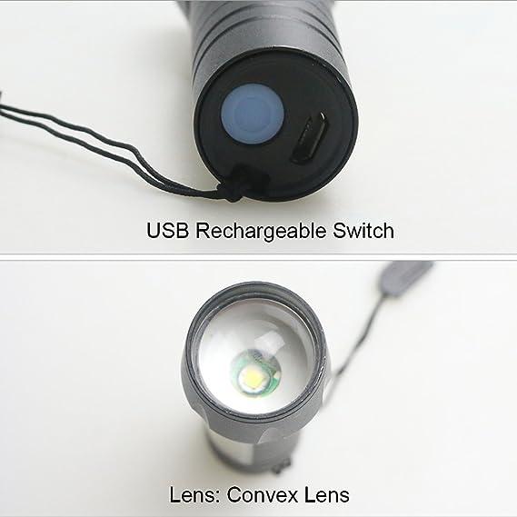 Bater/ía LED farol de camping/ /Aitoo al aire libre 3-Mode bater/ía incorporada recargable 300/l/úmenes magn/ético port/átil blanco LED luz de camping l/ámpara linterna para IP65/impermeable