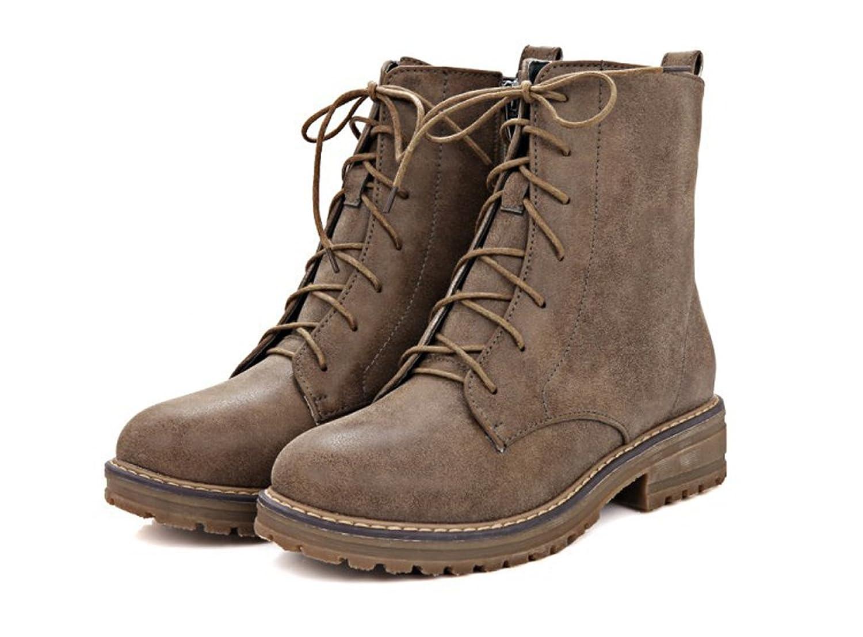 Honeystore Daman Schnürstiefeletten Damenschuhe Combat Boots Pump Schnürer Schnürsenkel Stiefeletten Grau 40CN CqwI2Yv