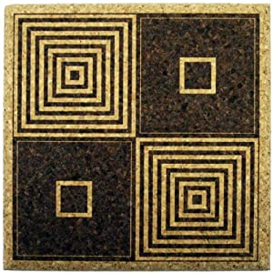 Xl coasters art deco squares 6 inch set of for Best coasters for sweaty drinks