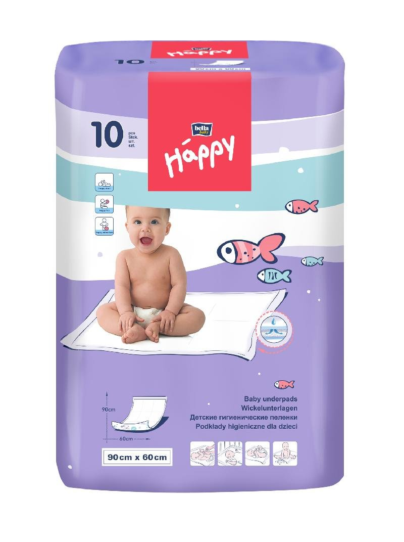 Bella Baby Happy Changing Mat 60x 90cm Pack of 10 TZMO