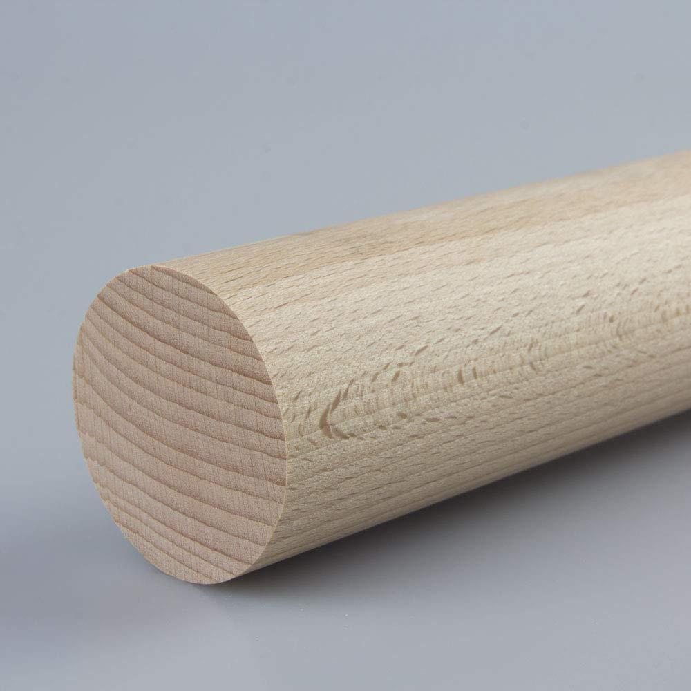 Rundstab Bastelstab Bastelleiste Holzstab aus Buche-Massivholz /Ø 45 mm 1000 mm