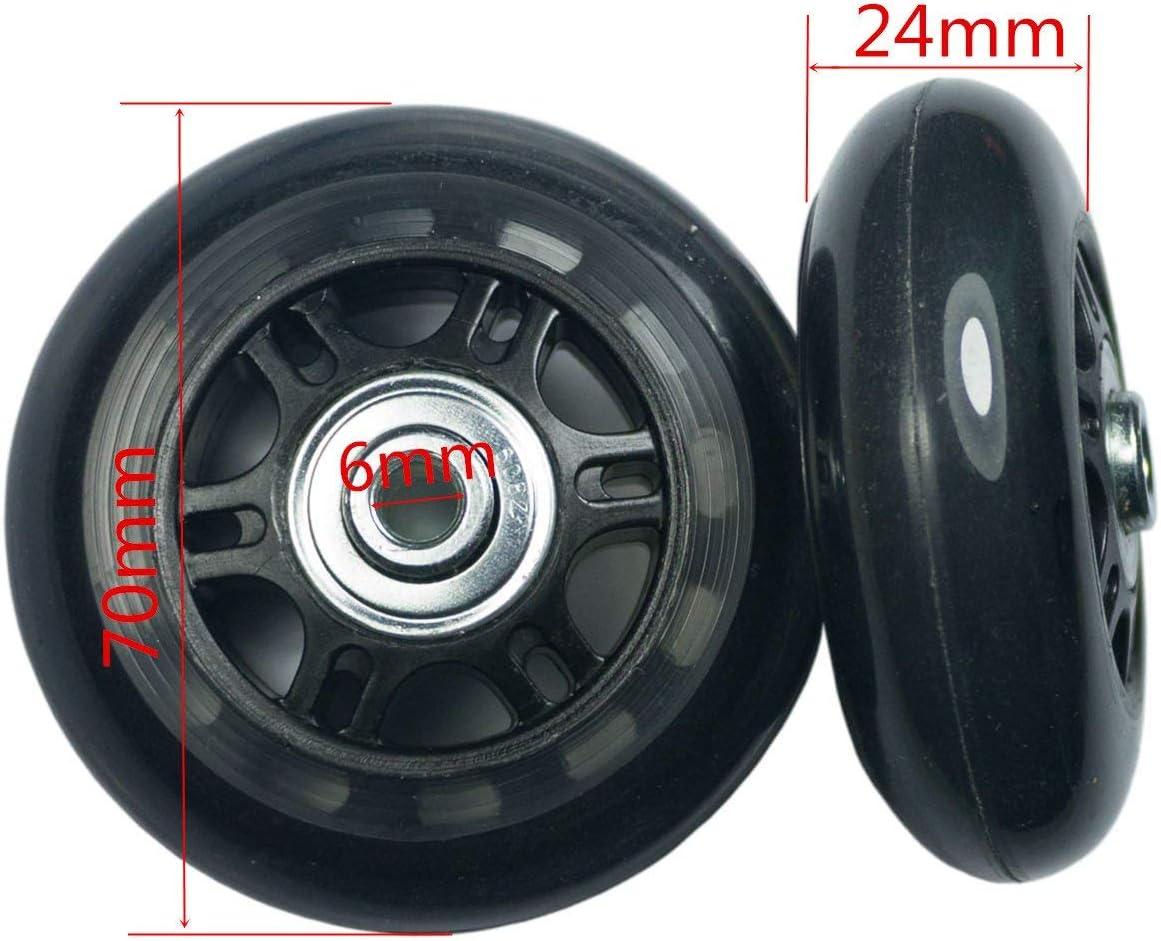 GSHFIGHTING Wear-Resistant Mute Luggage Suitcase Replacement Wheels w//ABEC 608zz Skate Inline Outdoor Skate Repair Kits 2 Wheels Sets