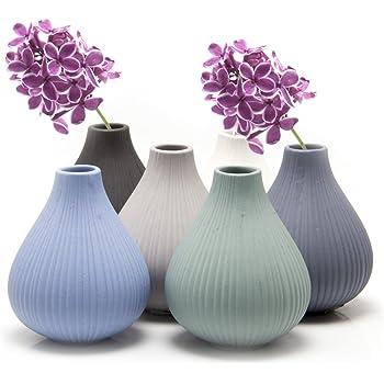 Amazon Chive Smasak Small Round Glass Flower Vase
