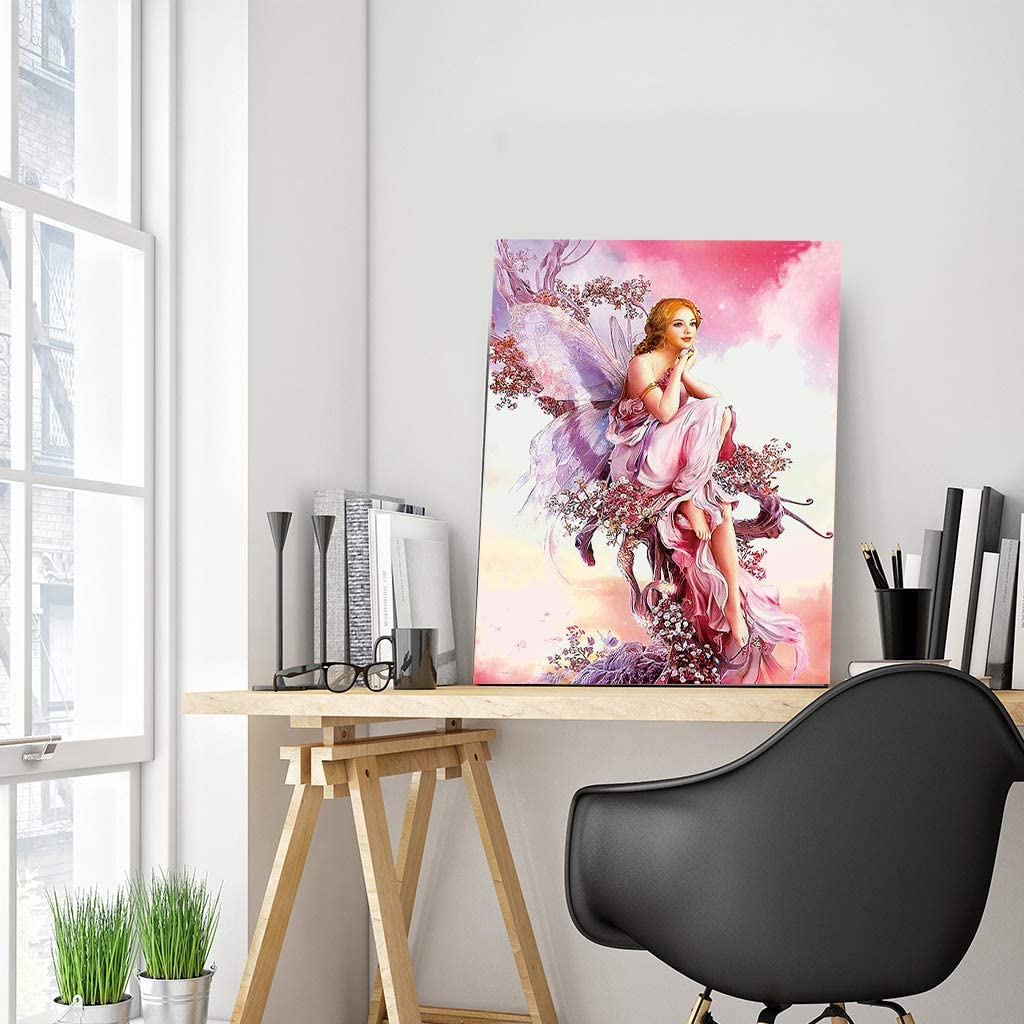 40 x 50 cm Square Diamond Painting Full Drill Kit de Pintura de Diamante Cuadrado 5D para Adultos Mariposa Hada de Cristal para Manualidades Decoraci/ón del Hogar Oficina Regalo de pared
