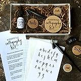 Calligraphy Starter Kit - Beginner Calligraphy Lettering Set - Beginning Modern Calligraphy DIY Kit - Oblique Pen Hand Lettering with Nib