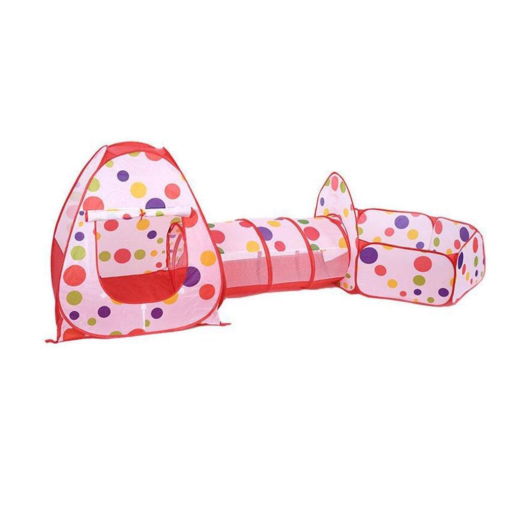 barato y de alta calidad HJXJXJX Los niños se arrastran arrastran arrastran túnel casa de la piscina de bolas juego de tres piezas plegable portátil tienda de la princesa de triple cubierta  Venta en línea de descuento de fábrica