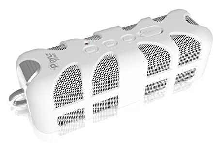 Pyle PWPBT60WT Sound Box Splash Bluetooth Rugged and Splash-Proof Marine Grade Portable Wireless Speaker White