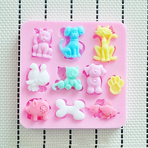 New Lovely Silicone Mould Animals Shape Jelly Mold Cake Decorations Sugarsoft Fondant (Fruit Jelly Flexible Mold)
