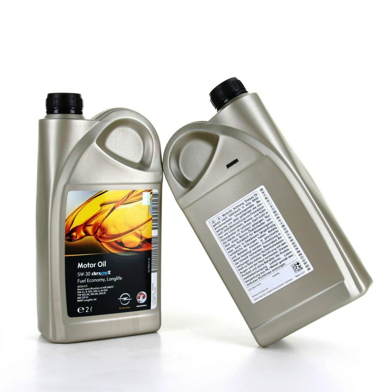 Opel Aceite Motor Original dexos 2 Oil 5w-30, 2 litros: Amazon.es ...