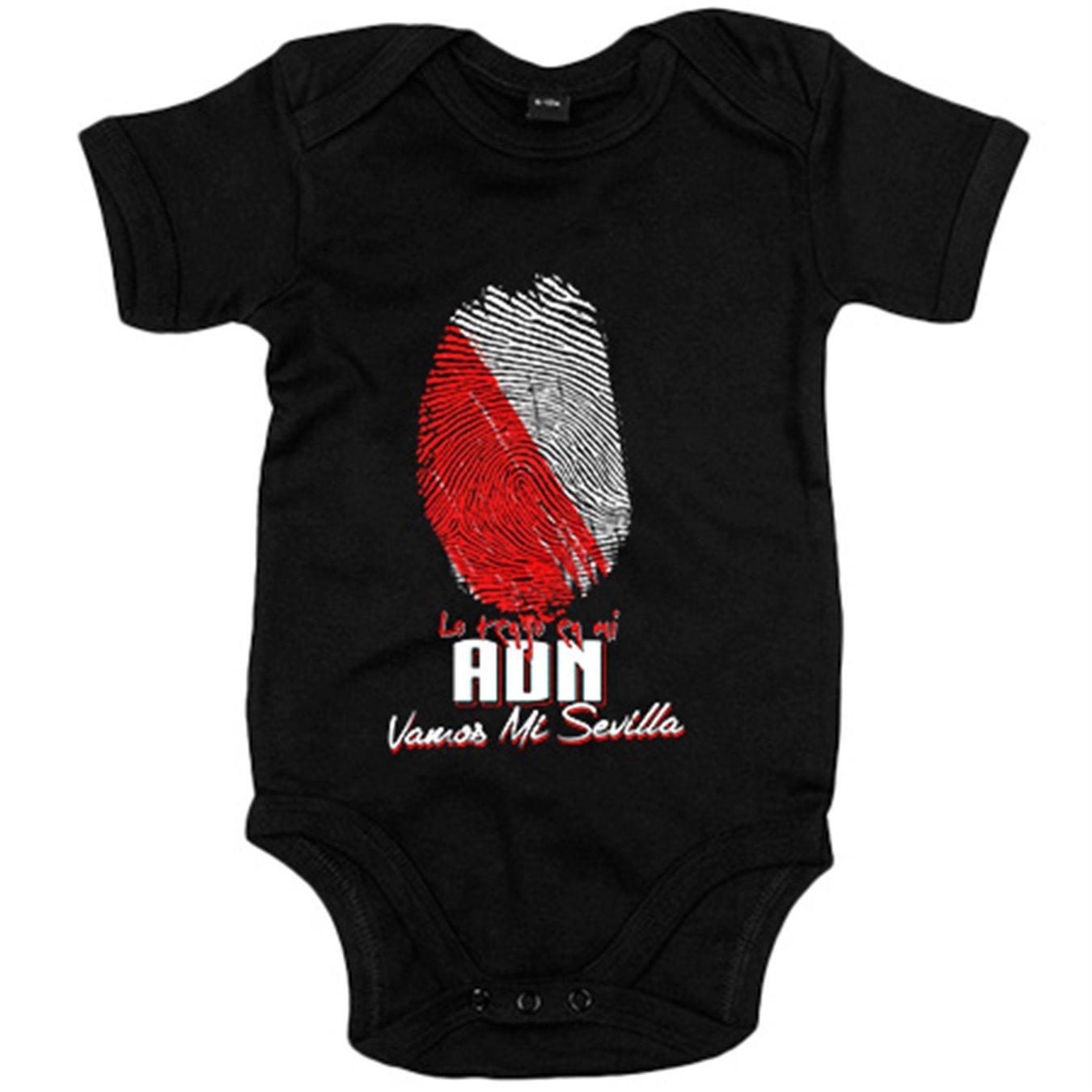 Body bebé lo tengo en mi ADN Sevilla fútbol - Negro, 12-18 meses: Amazon.es: Bebé