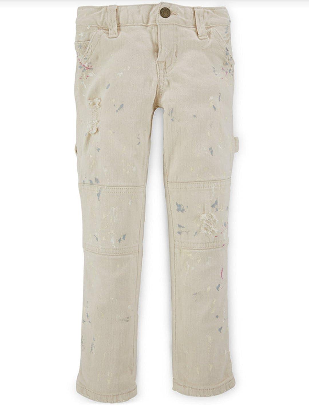 4 4T Ralph Lauren Little Girls Paint Splattered Skinny Jeans