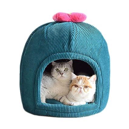 YAGEER gouwo Cama para Gatos Saco de Dormir para Mascotas casa de Gato Cama para Gatos