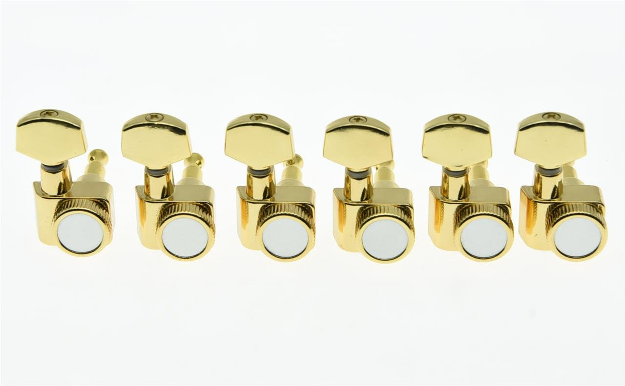 KAISH Gold 2 Pin Locking Tuners Tuning Keys Pegs fits USA Fender Strat Tele Guitars Kaish Music K1009