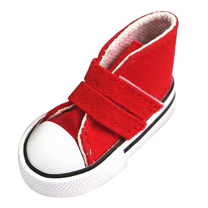 MagiDeal 1/4 Scala Di Pattini Tela Scarpa Superiori Appiccicosa Cinghia Scarpe Sneakers Accessori Per BJD SD MSD Bambole eczJfAGp