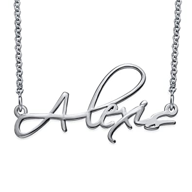personalized jewelry necklace limog s p script silver main girls sterling curved