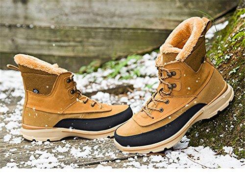 Stivali In Cotone Senximaoyi Stivali Moda E Stivali Da Neve Invernali 4 Colori (giallo, Marrone, Nero, Rosso) Giallo