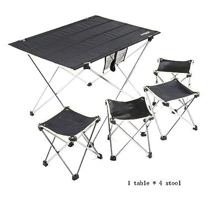 Mesa plegable y mesa de aluminio ultraligera. Mesa de combinación ...