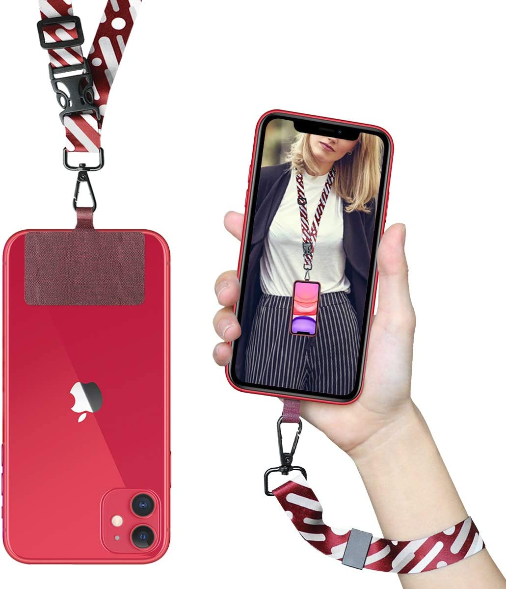 ROCONTRIP Crossbody Phone Lanyard Patch Neck Strap Lanyard with Detachable Neckstrap Compatible with Most Smartphone for iPhone Google Pixel LG HTC Huawei