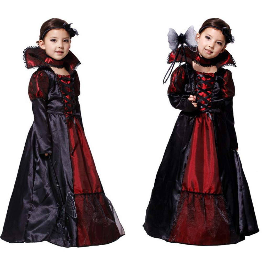 Iuhan for 4-10Years Baby Girls Halloween Custome Kids Cosplay Princess Long Dress Iuhan ®