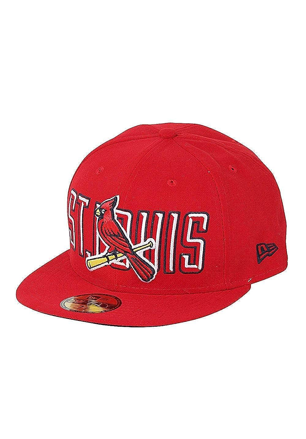New Era Men Caps//Fitted Cap Bevel Pitch ST Louis Cardinals