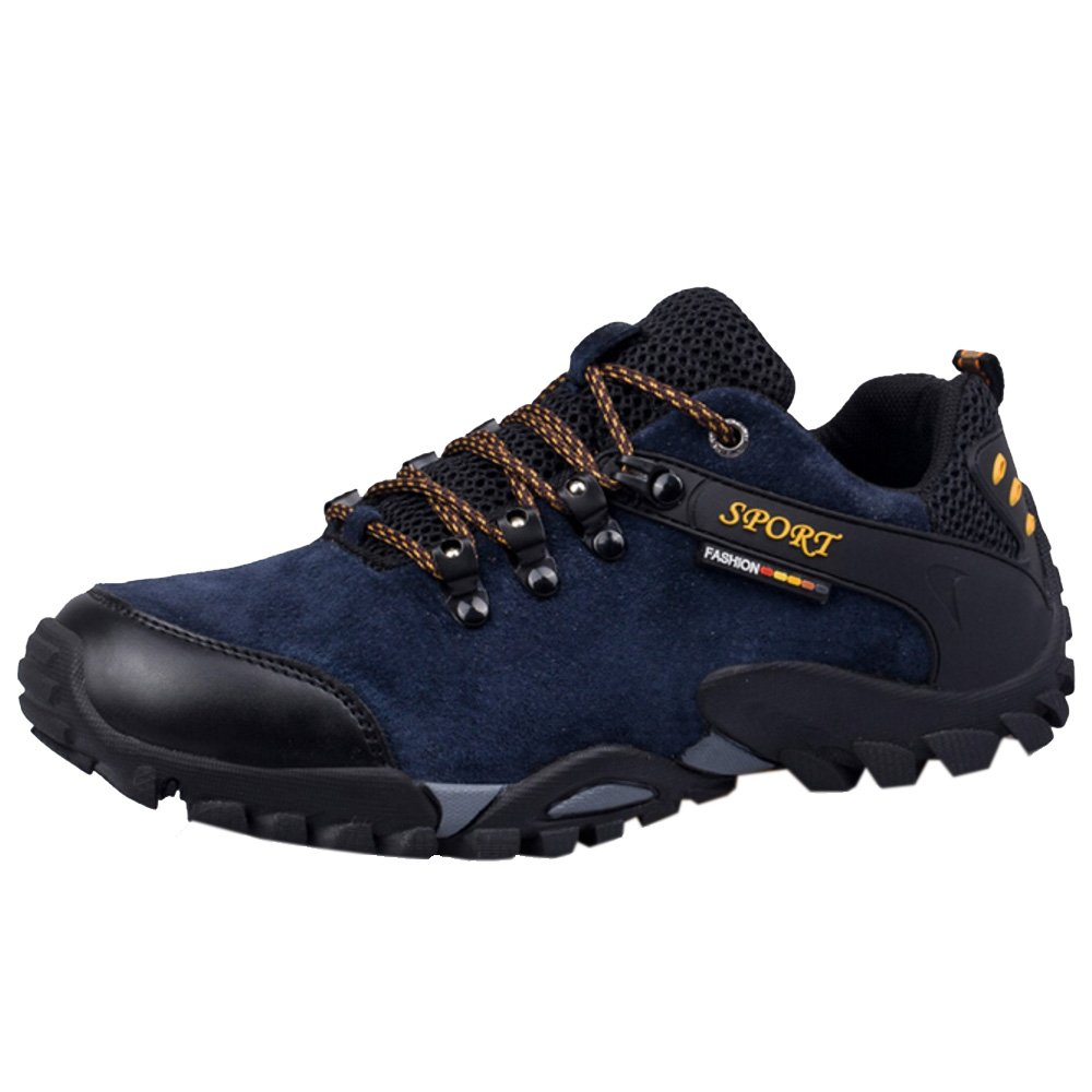 RAZAMAZA Zapatos de Trekking Hiking Shoes para Hombre 38 EU = 24 CM|Navy blue