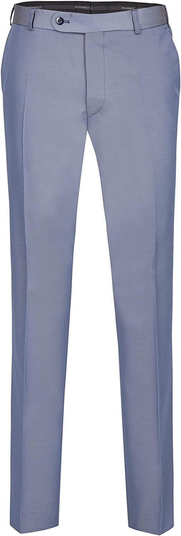Modern Fit Blau-Grau in Event Changeant Slimline Wilvorst Hose zum Hochzeitsanzug Keith