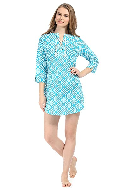 fc842b0ee1 Image Unavailable. Image not available for. Color: Mallory Trellis Eyelet  Beach Cover Up