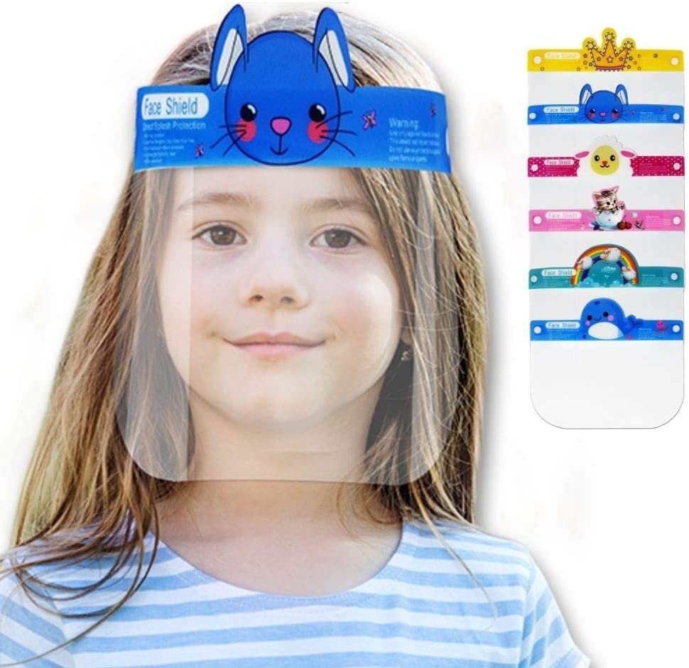 Child Kids Youth Face Shield//Full Face Protection Cover// 2 PACK