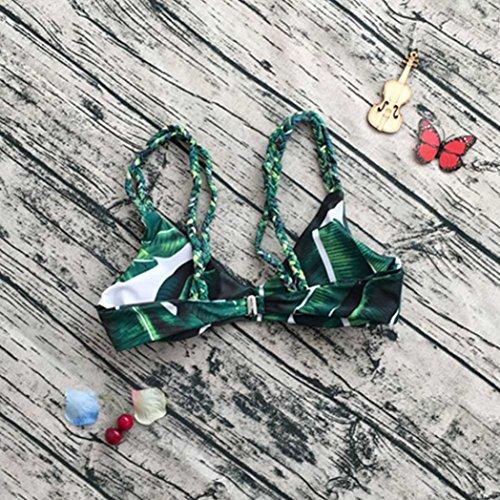 Yogogo Bikini Set Reizvoll Blätter für Seil Badeanzug Push-up Bademode für Frauen