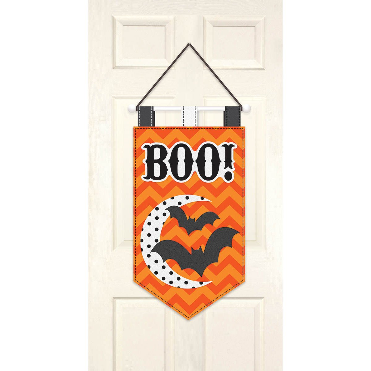 amscan New Age Scare Halloween Party Boo! Hanging Door Banner, Multicolor, 19 1/2''