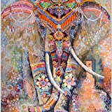 Elephant Mandala Tapestry Bohemian Hippie Indian Dormitory Decorated Common Tapestry Bedroom Living Room Dormitory Curtains Bedspreads, Picnic Mat Beach Towels (59 ''x 51'') (Multi)