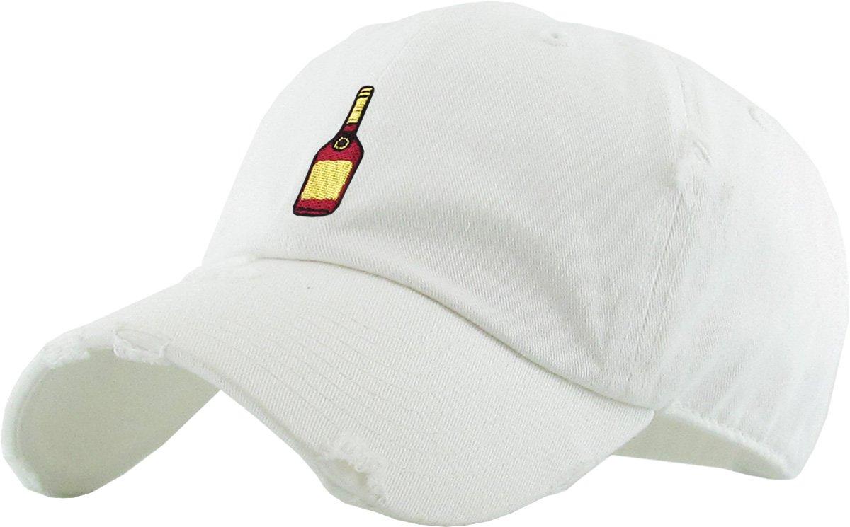 KBSV-047 BLK Henny Bottle Vintage Distressed Dad Hat Baseball Cap Polo Style Adjustable KBETHOS