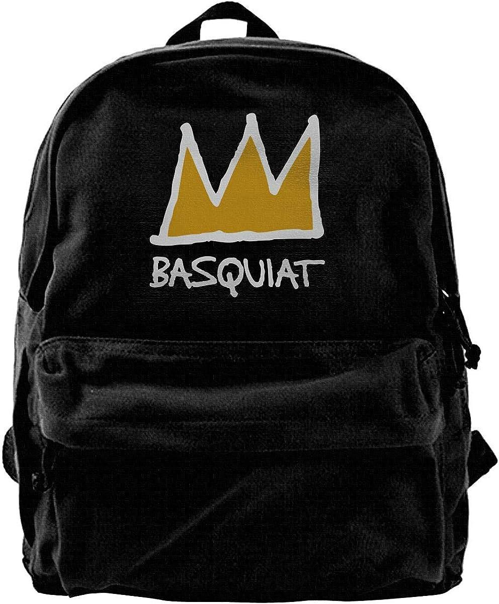randonn/ée NJIASGFUI Sac /à dos en toile Basquiat Sac /à dos de gym sac /à bandouli/ère pour homme et femme ordinateur portable