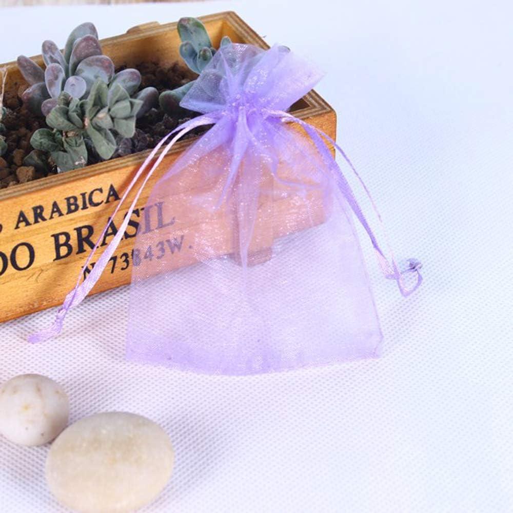 Ogquaton 10 Pcs Light Purple Organza Gift Bag bonbons de mariage pochette cordon de bijoux 10 x 15 cm /él/égant et populaire
