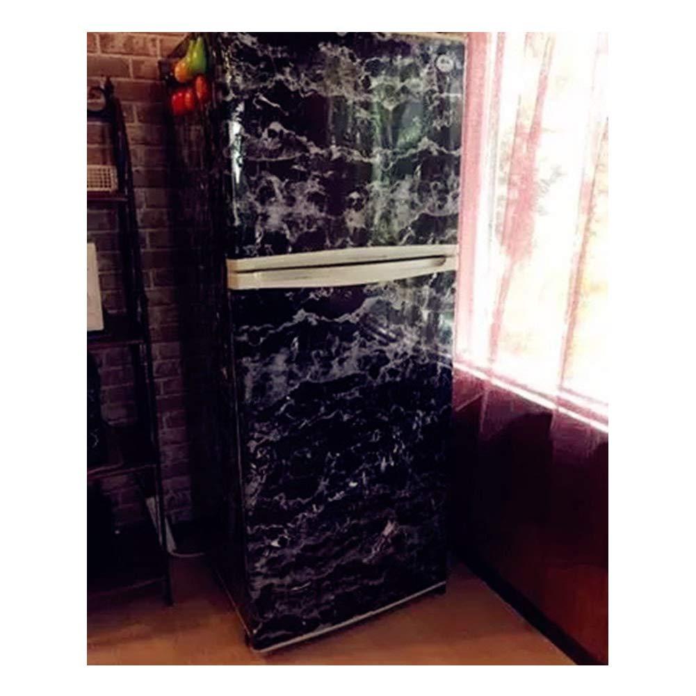 40 x 200 cm dise/ño de m/ármol Adhesivo autoadhesivo para puerta de mesa negro JLCorp color blanco y gris