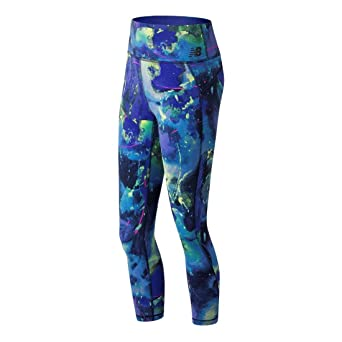 a63c8b74b11c1 Amazon.com: New Balance Women's Printed High-Rise Transform Crop Tights:  Clothing