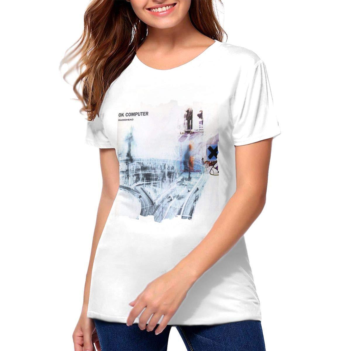 Herbertwburns Radiohead Ok Computer T Shirts Womans Tees 5620