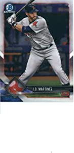 2018 Bowman Chrome #58 J.D. Martinez Boston Red Sox MLB Baseball Trading Card