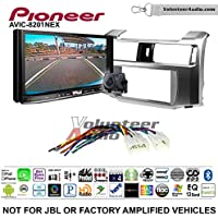 Volunteer Audio Pioneer AVIC-8201NEX Double Din Radio Install Kit with GPS Navigation Apple CarPlay Fits 2010-2013 Non Amplified Toyota 4Runner