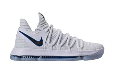 Nike Zoom Kd X 10 Men Basketball Shoes Light Grey Blue White Musee