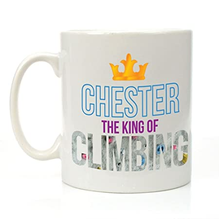 Personalised The King Of Climbing Mug Climber Gifts For Him Mens Birthday Amazoncouk Kitchen Home
